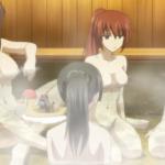 「一般アニメ」武士娘たちの裸エプロンブルマお風呂シーン!ファンにはたまらないサービス!青C